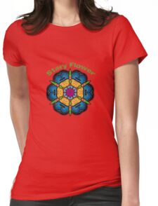 Stary Flower Womens Fitted T-Shirt