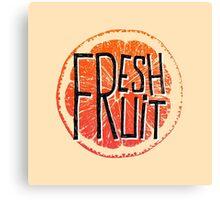 Orange fresh fruit illustration Canvas Print
