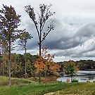 Punderson Lake in Autumn by Monnie Ryan