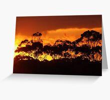 sunset horizon Greeting Card