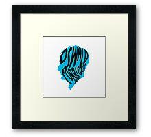 Oswald cobblepot silhouette Framed Print