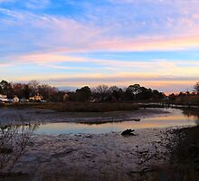 """Sunset at """"The Bend"""" on Hull Creek  (1506018935VA) by photroen"""