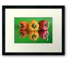 color peppers Framed Print