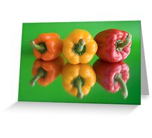 color peppers Greeting Card