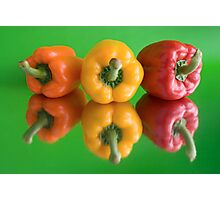 color peppers Photographic Print
