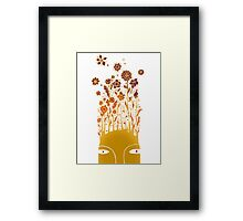 Psychedelic flower power Framed Print