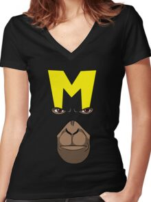Dial M for Monkey Women's Fitted V-Neck T-Shirt