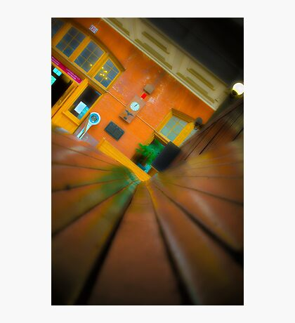 Downtown Train Photographic Print
