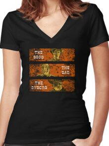 The Good, The Bad and The Gunslinger Cyborg Women's Fitted V-Neck T-Shirt