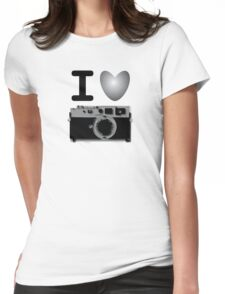 I love BW photography Womens Fitted T-Shirt