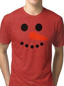 Snowman Face Tri-blend T-Shirt