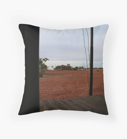 Out of the shed Throw Pillow