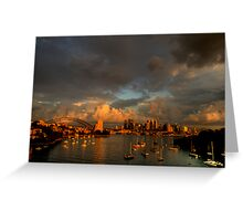 Silence Before The Storm - Moods of A City # 28 - Sydney Australia Greeting Card