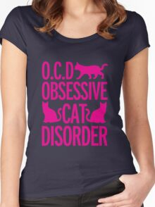 cats, animals, funny Women's Fitted Scoop T-Shirt