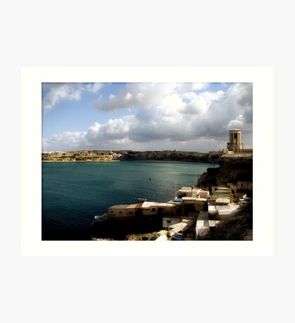 Valletta Harbour Art Print