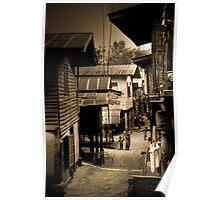 Village Lane - Tachilek, Burma Poster