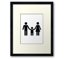 Parents child son Framed Print