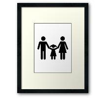 Parents child daughter Framed Print