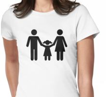 Parents child daughter Womens Fitted T-Shirt