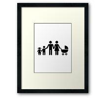 Family kids baby buggy Framed Print