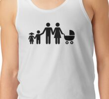 Family kids baby buggy Tank Top
