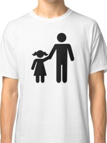 Father dad daughter girl Classic T-Shirt