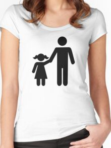 Father dad daughter girl Women's Fitted Scoop T-Shirt
