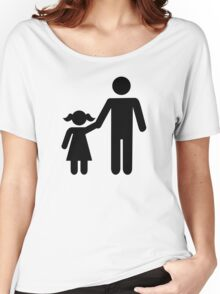 Father dad daughter girl Women's Relaxed Fit T-Shirt