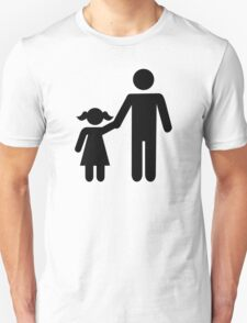 Father dad daughter girl Unisex T-Shirt