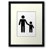Father dad son boy Framed Print
