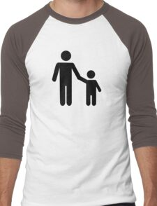 Father dad son boy Men's Baseball ¾ T-Shirt