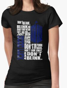 Don't Blink Womens Fitted T-Shirt