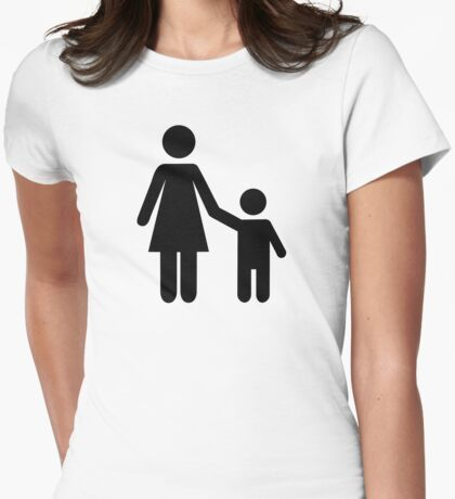 Mother mom son boy Womens Fitted T-Shirt