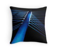 Blue Fibers Throw Pillow