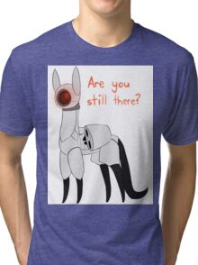 Portal: Turret Cat  Tri-blend T-Shirt