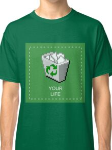 your life: recycle bin [vaporwave] Classic T-Shirt