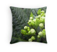 Green Buds Throw Pillow