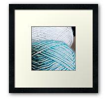 Yarn Framed Print