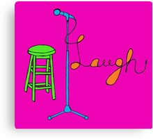 Stand Up Comedy Drawing. (With Color) Canvas Print