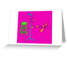 Stand Up Comedy Drawing. (With Color) Greeting Card