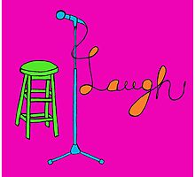 Stand Up Comedy Drawing. (With Color) Photographic Print