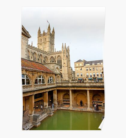 The Roman Baths, Bath Poster