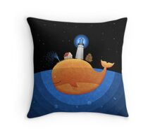 Whale (Night) Throw Pillow