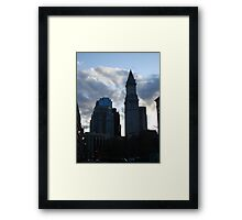 Dark Boston  Framed Print