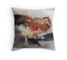 Audrey ( Chicken ) - From original pastel by Madeleine Kelly Throw Pillow