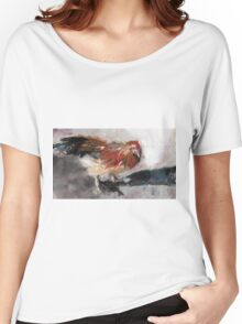 Audrey ( Chicken ) - From original pastel by Madeleine Kelly Women's Relaxed Fit T-Shirt