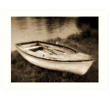 Sepia Boat Art Print