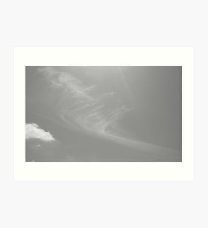 Toothbrush in the sky Art Print