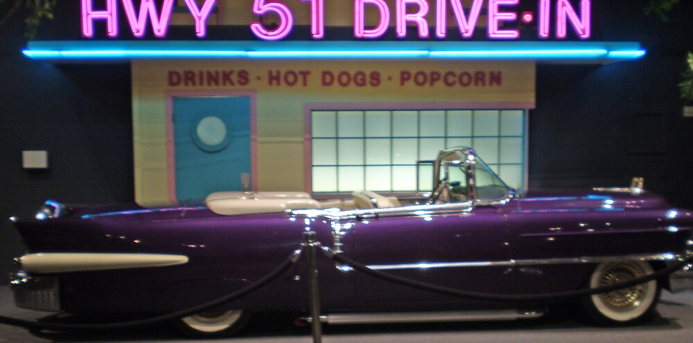 Elvis' Purple Cadillac Eldorado by Christina Reid