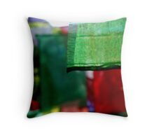 Abstract Prayer Flags 1  (Limited Edition Print of 50) Throw Pillow